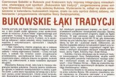 Dziennik Polski - wrzesień 2010 - Bukowskie łąki tradycji