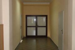Gotowy nowy korytarz w starym budynku.