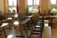 Przebudowane sale zajęć lekcyjnych w starym budynku.