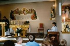 Wnętrze kaplicy w Bukowie.