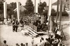 Uroczyste oddanie do użytku nowej remizy Ochotniczej Straży Pożarnej w Bukowie w 1966 r.