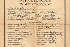 Świadectwo szkolne z 1942 r.