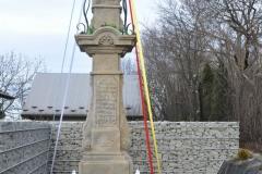 Buków - poświęcenie kapliczki  słupowej Matki Bożej Bolesnej z 1837 r. w dniu  2019-12-16. Zdjęcie: Anna Kowalska
