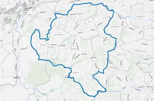 gmina-mogilany-mapa